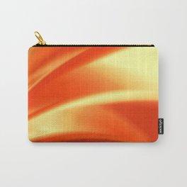 Pretty Orange Fusion Design Carry-All Pouch