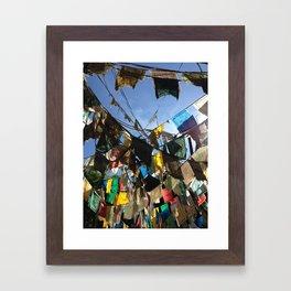 Prayer flags Framed Art Print