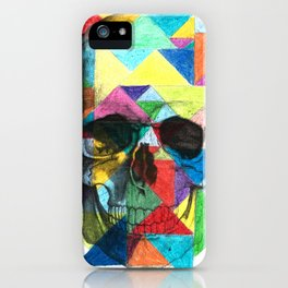 Triangle Skull iPhone Case