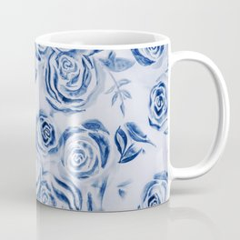 Blue Rose Floral Pattern - Most liked blues Coffee Mug