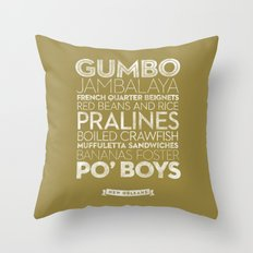 New Orleans — Delicious City Prints Throw Pillow