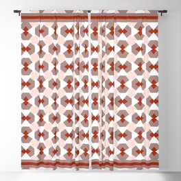 Geometric pattern Fake it until you'll make it, red Blackout Curtain