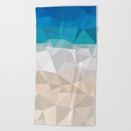 Low poly beach Beach Towel