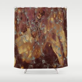 Abstract copper pattern Shower Curtain