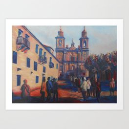 Monastery at Poio Art Print