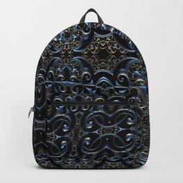 Sacred Gothic Charm Dark Mandala Print Backpack