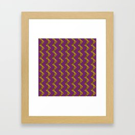 GLITTER CHEVRON Framed Art Print