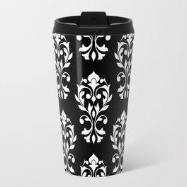 Heart Damask Pattern II WB Travel Mug