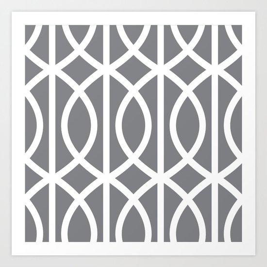 grey pattern Art Print