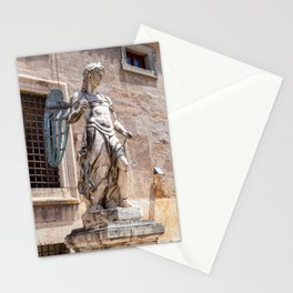 Angel statue inside Castle Sant'Angelo in Rome Stationery Cards