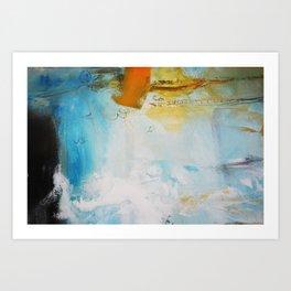 Blue Abstract painting Print  Art Print