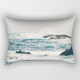 Rough Waters on the Coast of Maui Rectangular Pillow