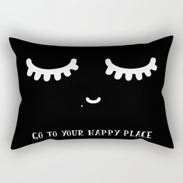 GO TO YOUR HAPPY PLACE Rectangular Pillow