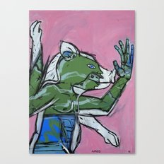Flailing Pig Man by Amos Duggan Canvas Print
