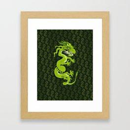 Jade Dragon Framed Art Print