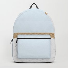 Duck egg blue marble Backpack