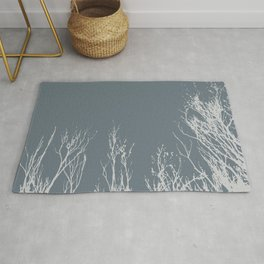 Silhouettes of Black Trees Rug
