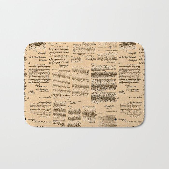 George Washington's Letters // Dark Paper Bath Mat