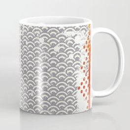 Crayon Bright Grey Geometric Shabby Abstract Collage Print Coffee Mug