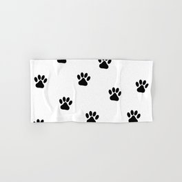 Panda Footprints Pattern Hand & Bath Towel