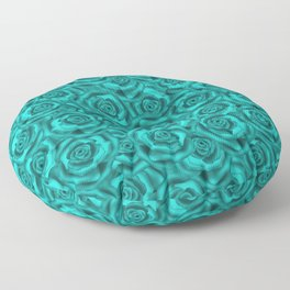 Bright turquoise roses Floor Pillow