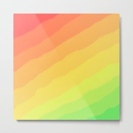 Happy Colorful Rainbow Stripes Metal Print