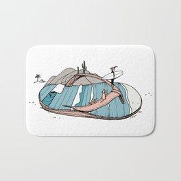 """""""Baja Sole"""" // Fun Beach Trip Surfer Girl Art Bath Mat"""