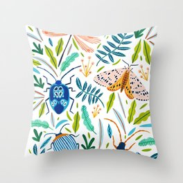 Bugs Pattern Throw Pillow
