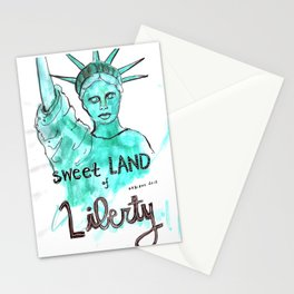 Sweet Land of Liberty Stationery Cards