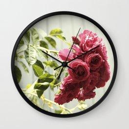 Vintage Rose IIII  | Pastel Color | Street Photography | Flower Photography | Fine Art Photo Print Wall Clock