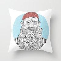 sailor Throw Pillows featuring Sailor by cikuta
