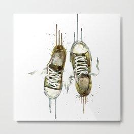Men's sneakers Metal Print
