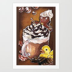 Gingerbread Bath Art Print