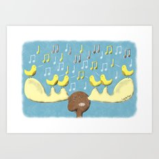 Musical Moose and the Canaryettes Art Print