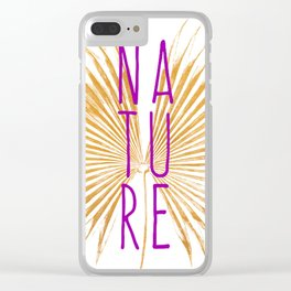 Nature - Botanical Minimalism Typography Clear iPhone Case