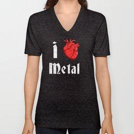 I Heart Metal Unisex V-Neck