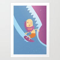 surf Art Prints featuring Surf! by DooDoo