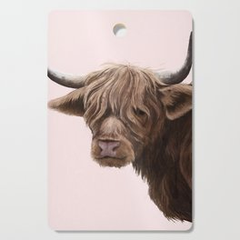 highland cattle portrait Cutting Board