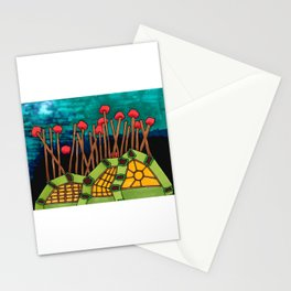 Bent Saplings Nature Center Architectural Illustration Stationery Cards
