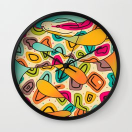 Colorful Snake Wall Clock