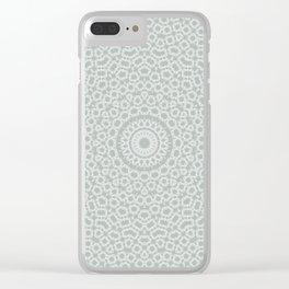 Grey white kaleidoscope Clear iPhone Case