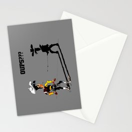 Fast shadow - OUPS - grey version Stationery Cards