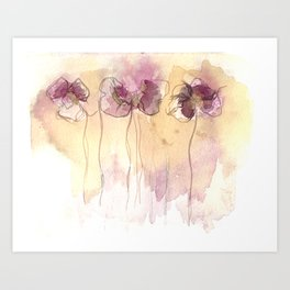 Fragrance - Abstract Flowers Watercolour Art Print