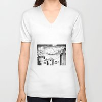 buildings V-neck T-shirts featuring Buildings by Giuseppe Vassallo