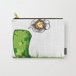Happy Creeper Carry-All Pouch