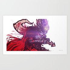 The Death of Chelchis Art Print