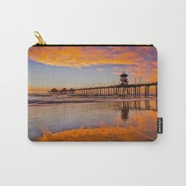 HB Sunsets   12/23/15  ~  Sunset At The Huntington Beach Pier Carry-All Pouch
