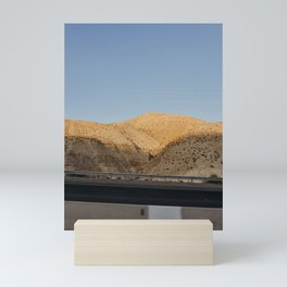 Above the Dead Sea, Isreal   Sun set golden hour and salted water   Travel photography   Mountain vi Mini Art Print