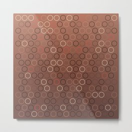 Tasty brown coffee chocolate background with circles Metal Print