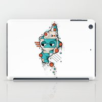 muscle iPad Cases featuring Muscle cat by Randyotter